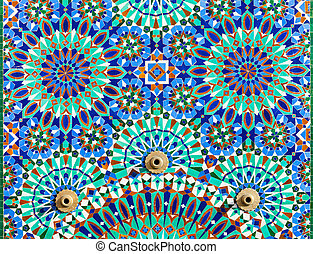 Hassan Mosque design - The Hassan II Mosque exterior pattern...