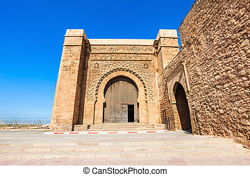 Kasbah in Rabat - The Kasbah of the Udayas entrance gate in...