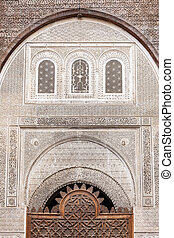 Al Attarine Madrasa - Pattern design element of Al-Attarine...