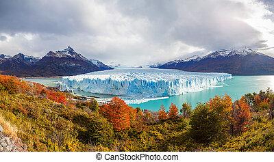 The Perito Moreno Glacier panoramic view. It is is a glacier...