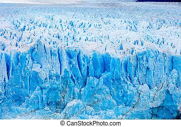 The Perito Moreno Glacier close up view. It is a glacier...