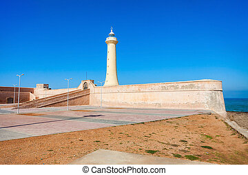 Lighthouse in Rabat (Phare de Rabat) in Morocco. Lighthouse...