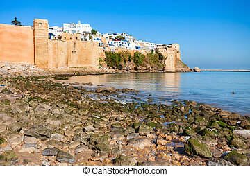 Rabat in Morocco - The Kasbah of the Udayas fortress in...