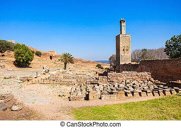 Chellah in Rabat - Minaret at the Chellah Chellah or Sala...