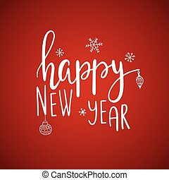 happy new yearcard lettering - Beautiful Happy new year card...