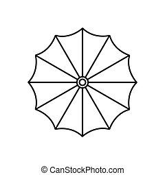 Umbrella icon in outline style - icon in outline style on a...