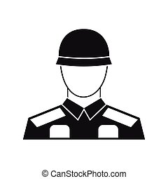 Soldier icon in simple style - icon in simple style on a...