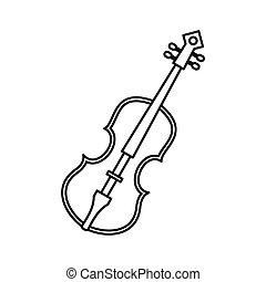 Cello icon in outline style - icon in outline style on a...