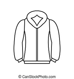Sweatshirt icon in outline style - icon in outline style on...