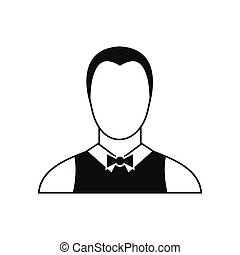 Waiter icon in simple style - icon in simple style on a...