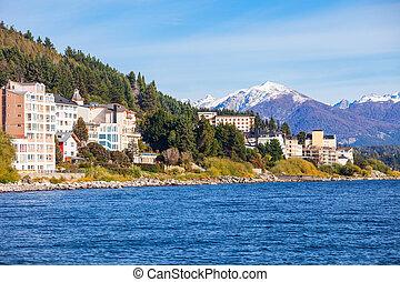 Bariloche landscape in Argentina - Bariloche city and Nahuel...