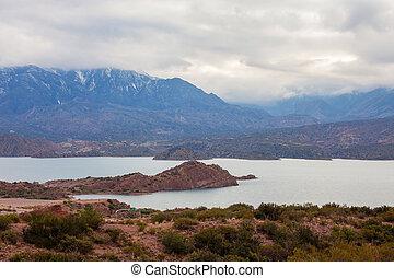 Potrerillos Dam near Mendoza - Potrerillos Dam is located on...