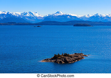 Bariloche landscape in Argentina - Beauty lake and mountains...