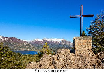 Bariloche landscape in Argentina - Monument in Cerro...