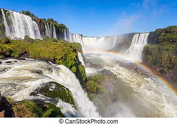 The Iguazu Falls - Devils Throat Garganta del Diablo is the...