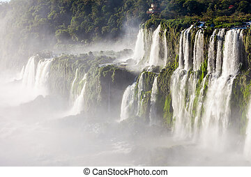 The Iguazu Falls - Iguazu Falls are waterfalls of the Iguazu...