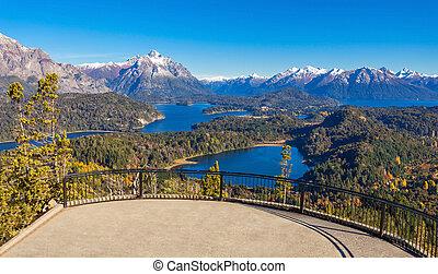 Bariloche landscape in Argentina - Cerro Campanario...