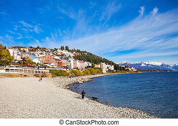 Bariloche landscape in Argentina - Bariloche beach and...