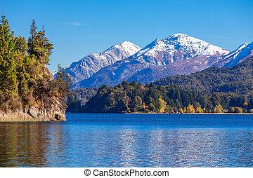 Bariloche landscape in Argentina - Tronador Mountain and...