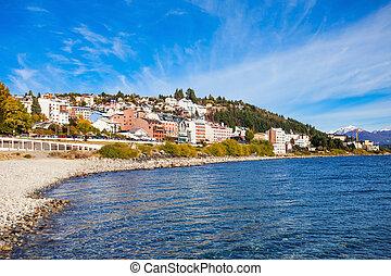 Bariloche landscape in Argentina - Bariloche seafront and...