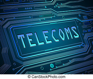 Abstract telecoms concept.
