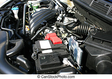 New car engine - New car powerful engine.
