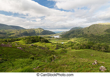 view to Killarney National Park valley in ireland - nature...