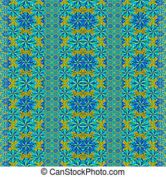 Colorful Modern Orante Seamlesss Pattern - Digital collage...