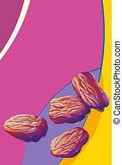illustration heap of raisins. - illustration of heap of...