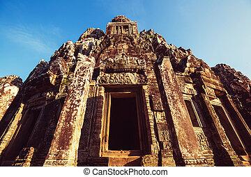 Angkor - Ancient Khmer civilization ruins of Angkor near...