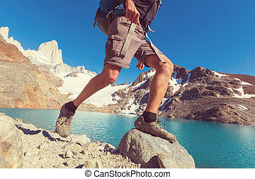 Hike in Patagonia - Hike in the Patagonian mountains