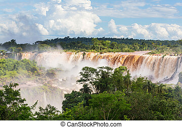 Iguazu - Impessive Iguassu (Iguazu) Falls on the Argentina -...