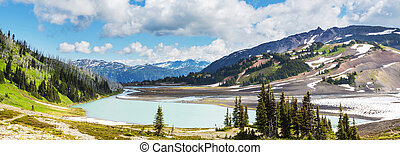 Mountains in Canada - Picturesque mountain view in the...