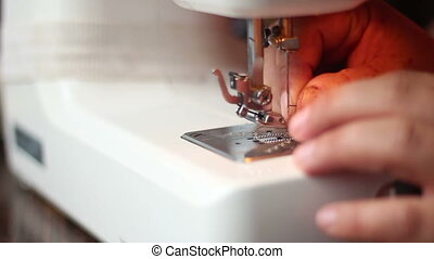 Needle to thread on sewing machine