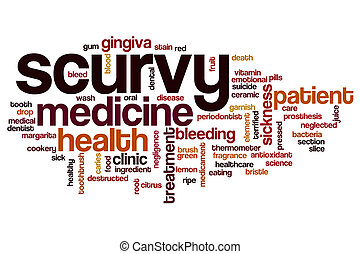 Scurvy word cloud concept