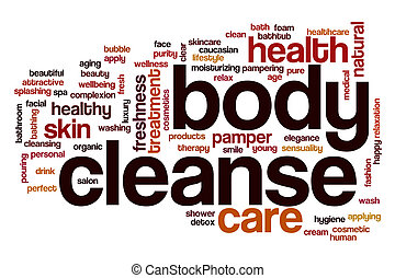 Body cleanse word cloud concept