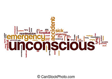 Unconscious word cloud concept