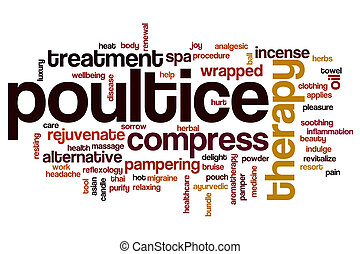 Poultice word cloud concept