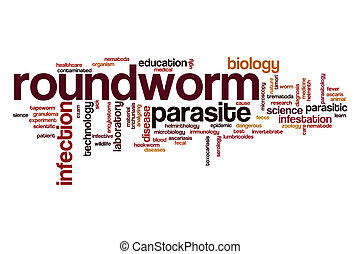 Roundworm word cloud concept