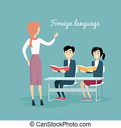Learning a Foreign Language Conceptual Banner - Learning a...