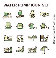 Water pump icon - Water pump and agricultural equipment icon...