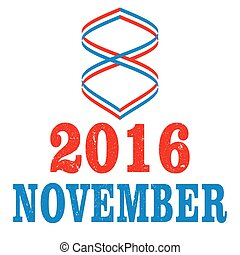 US Election Day Vector Concept - 2016 US Election Day vector...