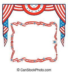 US Flag patriotic border template. Can be used as a poster...