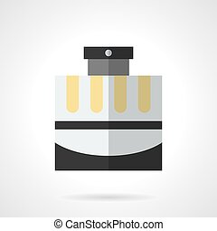 Male cologne flat color vector icon - Cosmetic and perfumery...