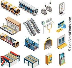 Underground Isometric Set - Underground isometric set with...