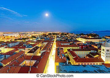 Night view of Zadar - Night view of Old town Zadar