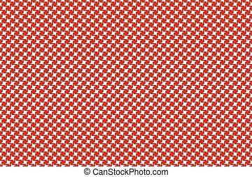 Red white fabric seamless pattern
