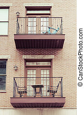 Balconies on Apartments - Small balconies on apartments in...