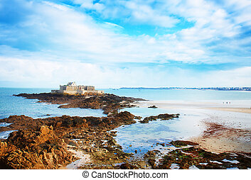 Fort National, Saint Malo, Brittany, France - Fort National...