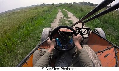 Riding the buggy first person view.